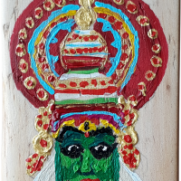 fridge_magnet_peepletree_art_gallery_house_decors_sadashivanagar_bangalore_Bengaluru_kathakali_dance_mask_of_Kerala_acrylic_on_wood_20210122_151634.png